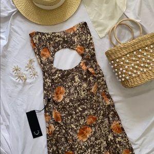 For Love & Lemons floral maxi dress XS